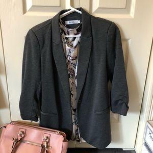 Rickis dark grey lined blazer size medium